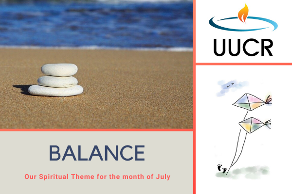 Balance is our Spiritual Theme for the month of July 2020